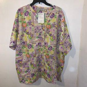 NEW Button Up Nursing Scrubs Women's Size 2XL XXL